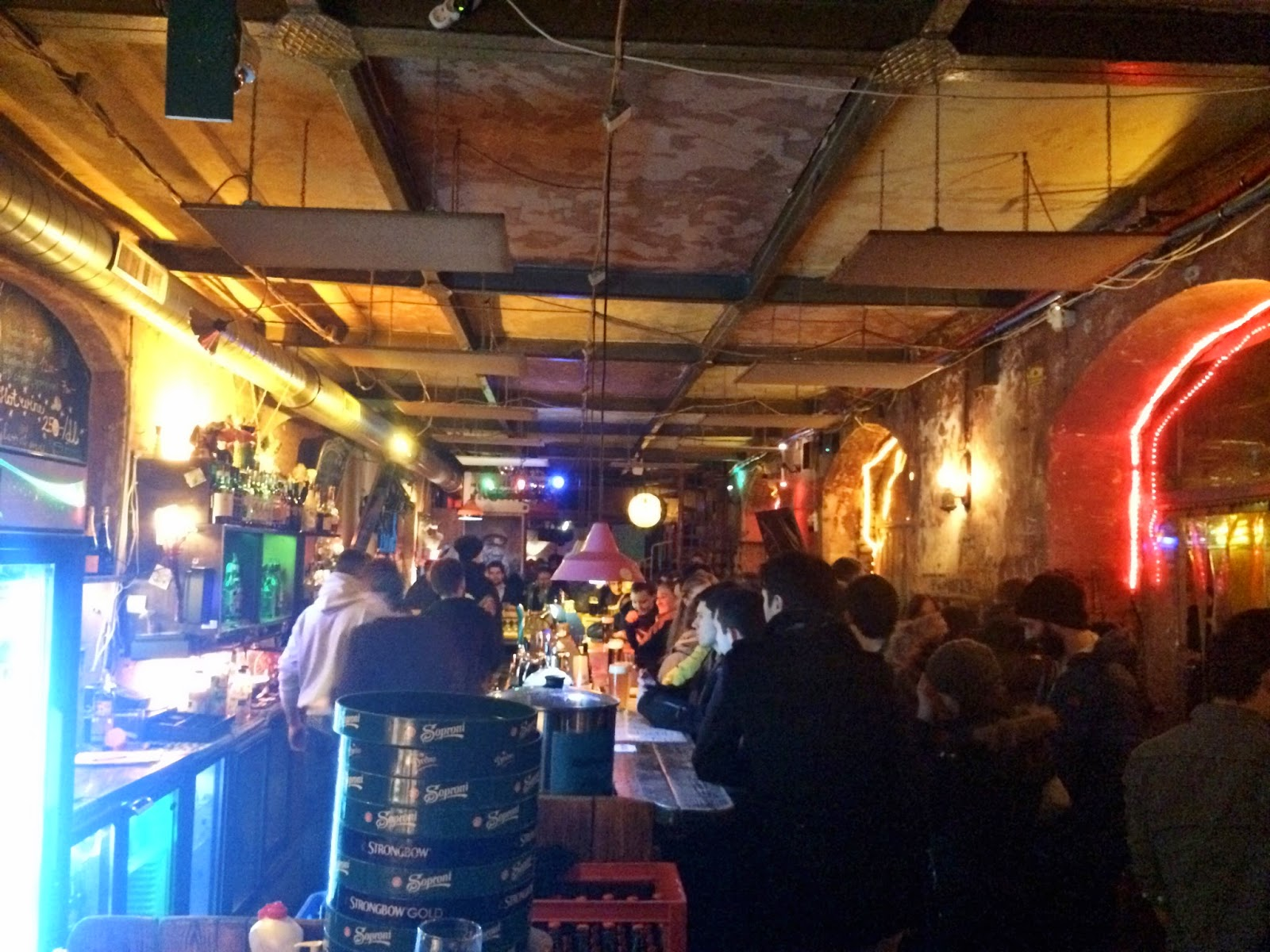 One of the bars inside Szimpla Kert