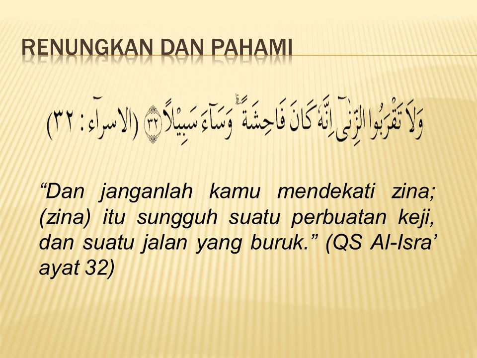 Isi Kandungan Surat Al Isra Ayat 32 Lengkap Dengan Artinya Wajib Baca