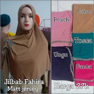 Jilbab fahira bahan jersey murah