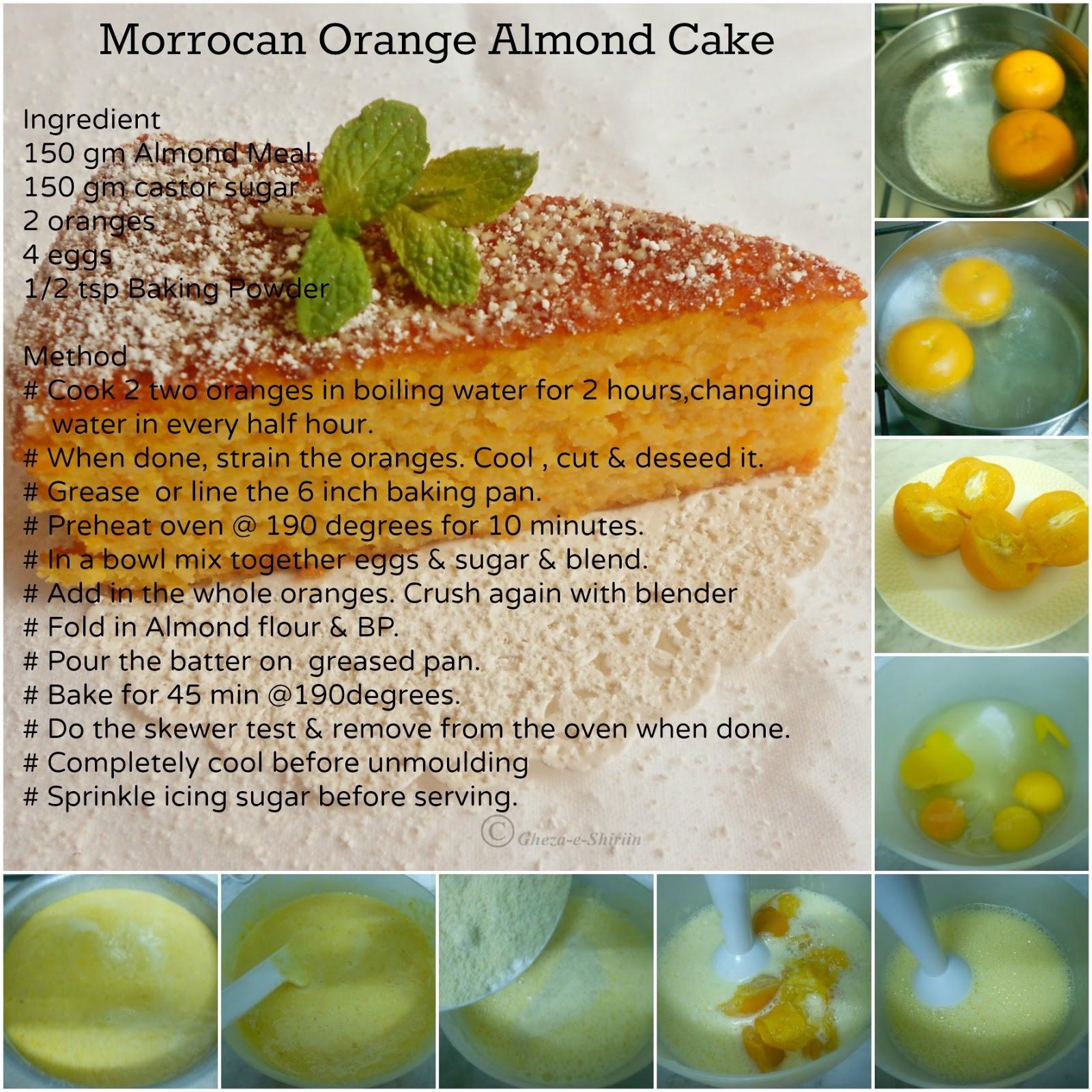 Moroccan Orange Cake Gluten Free