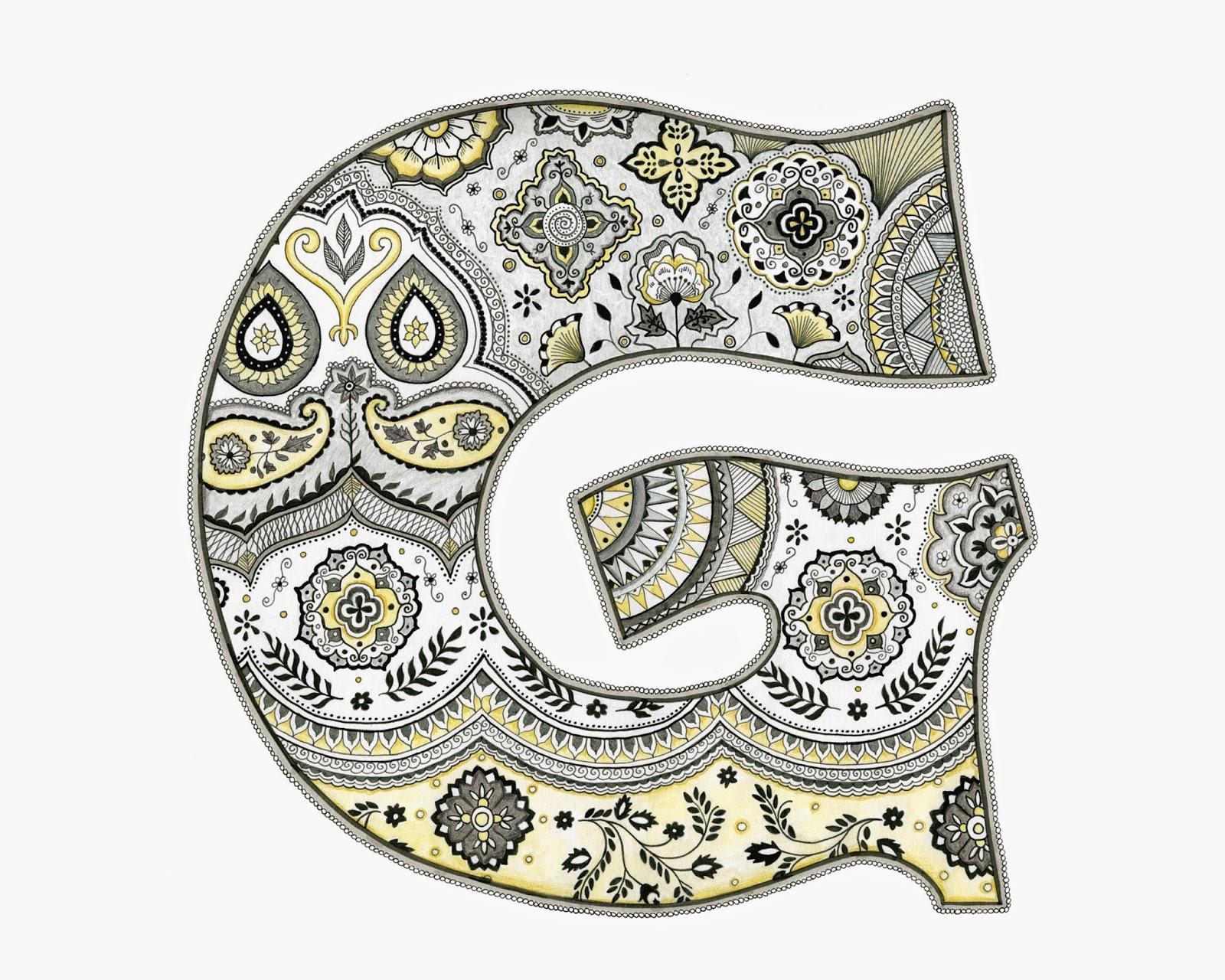 Amy Zaleski Illustration & Lettering The Letter G