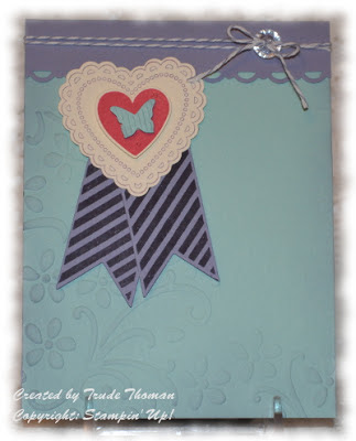 Hearts a Flutter, Stampin' Up!, stamp with Trude, valentine