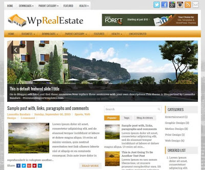 WpRealEstate Blogger Template