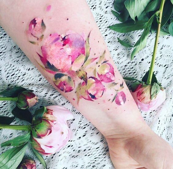 Stunning Watercolor Rose Tattoos