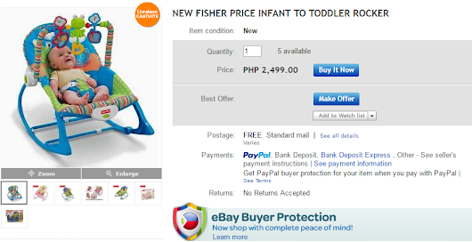 NEW FISHER PRICE INFANT TO TODDLER ROCKER
