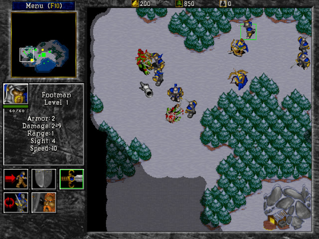 Warcraft 2 Combat Screenshot