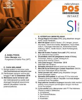 Lowongan Kerja BUMN Terbaru  PT Pos Indonesia (Persero)