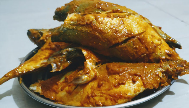 Mackerel bangda fish coated with Mixture for bangda Mackerel fish Tawa fry Recipe