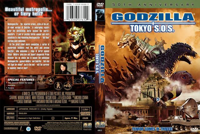 Capa DVD Godzilla Tokyo SOS