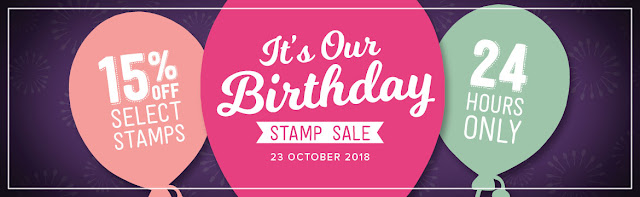 Graphic for It's Our Birthday Sale, a 24 hour stamp sale by Stampin' Up! held in the UK