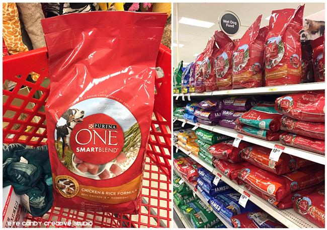 in store Target shots, Purina ONE Smartblend dog food, Target run