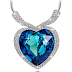 """Amazon: $5.80 (Reg. $57.99) """"Heart of Ocean White Gold Plated Necklace!"""