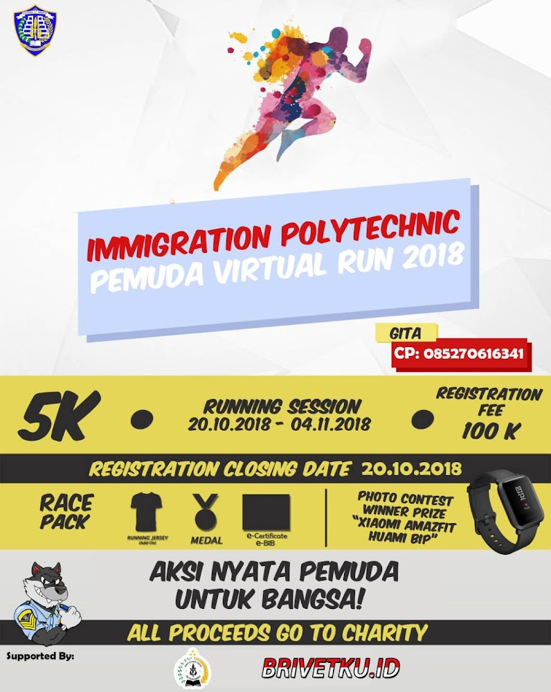Immigration Polytechnic Pemuda Virtual Run For Indonesia • 2018