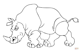 Best Of Rhinoceros Coloring Sheet For Free Download