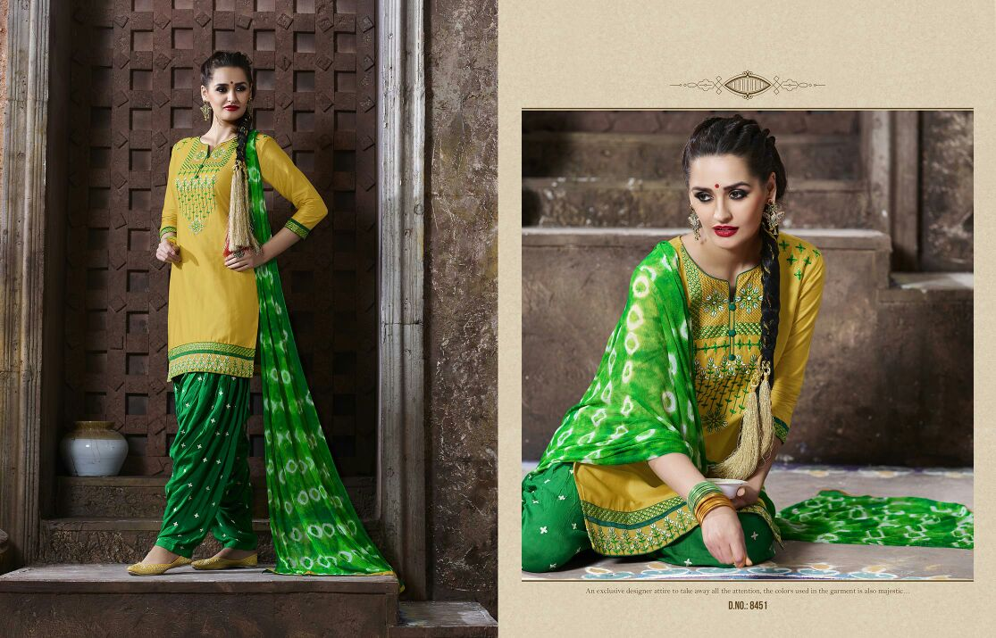 Patiala House Vol 47 – Pure Cotton Patiala Dress Material Wholesale