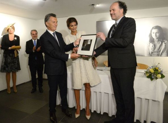 President Macri and Juliana at the Anne Frank House