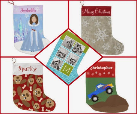 zazzle stockings collage