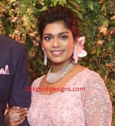 Sreeja Wedding Reception Jewellery