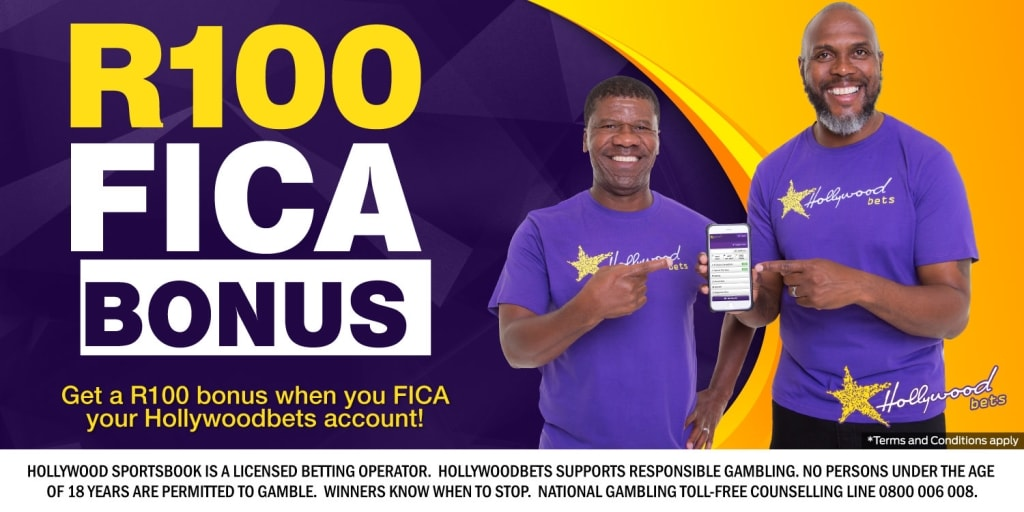 R100 FICA Bonus with Hollywoodbets - Jerry Sikhosana and Brian Baloyi