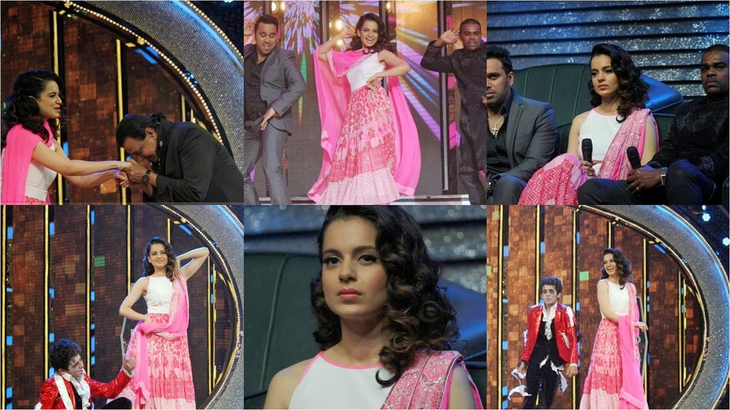 Kangana Ranaut dancing on Dance India Dance on Queen movie song
