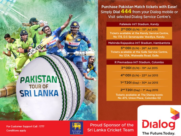 Purchase Pakistan Match Tickets with Ease from Dialog