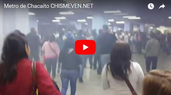 Detonaciones y humo dentro del Metro en Chacaíto