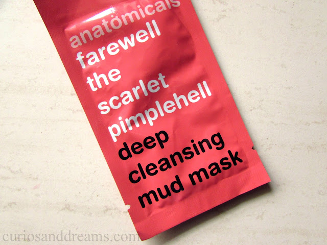 Farewell the scarlet Pimplehell Deep Cleansing Mud Mask review, Anamtomicals Deep Cleansing Mud Mask review, Anatomicals Face Masks review