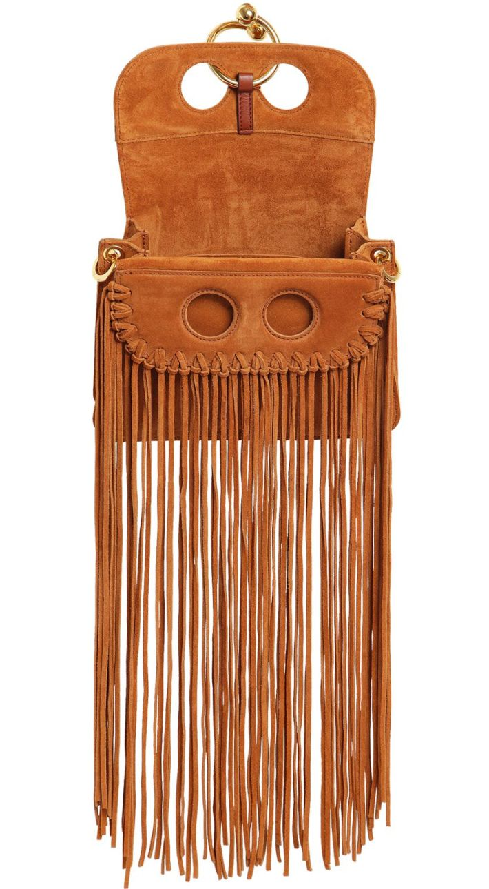 J.W. Anderson Bohemian Long Fringe Suede Handbag
