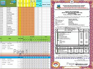 Aplikasi Terbaru Rekap Nilai Hasil Ujian Sekolah/Madrasah (US/M) Kelas 6 SD/MI Tahun 2016