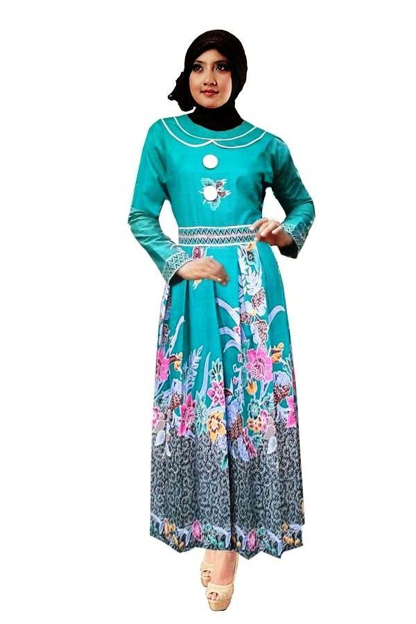 ッ 20+ model gaun batik muslim kombinasi modern dan elegan ...