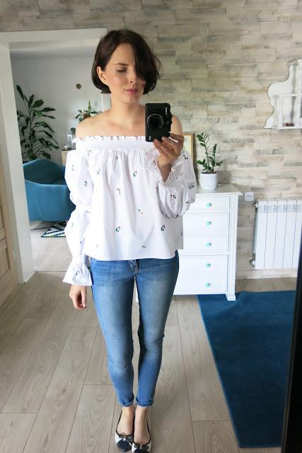 Haftowana bluzka | Off Shoulder Blouse | Torebka | Bag