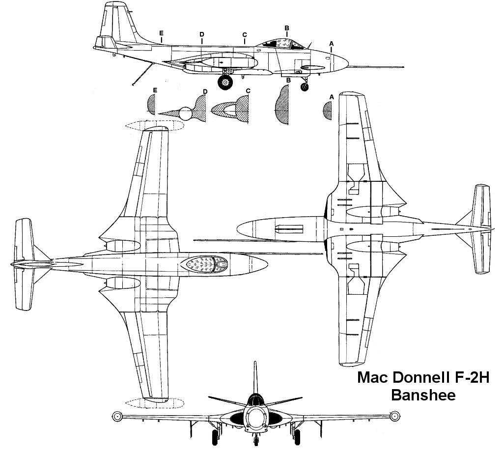 The Modelling News: F2H-2/2P Banshee from Kittyhawk in 1