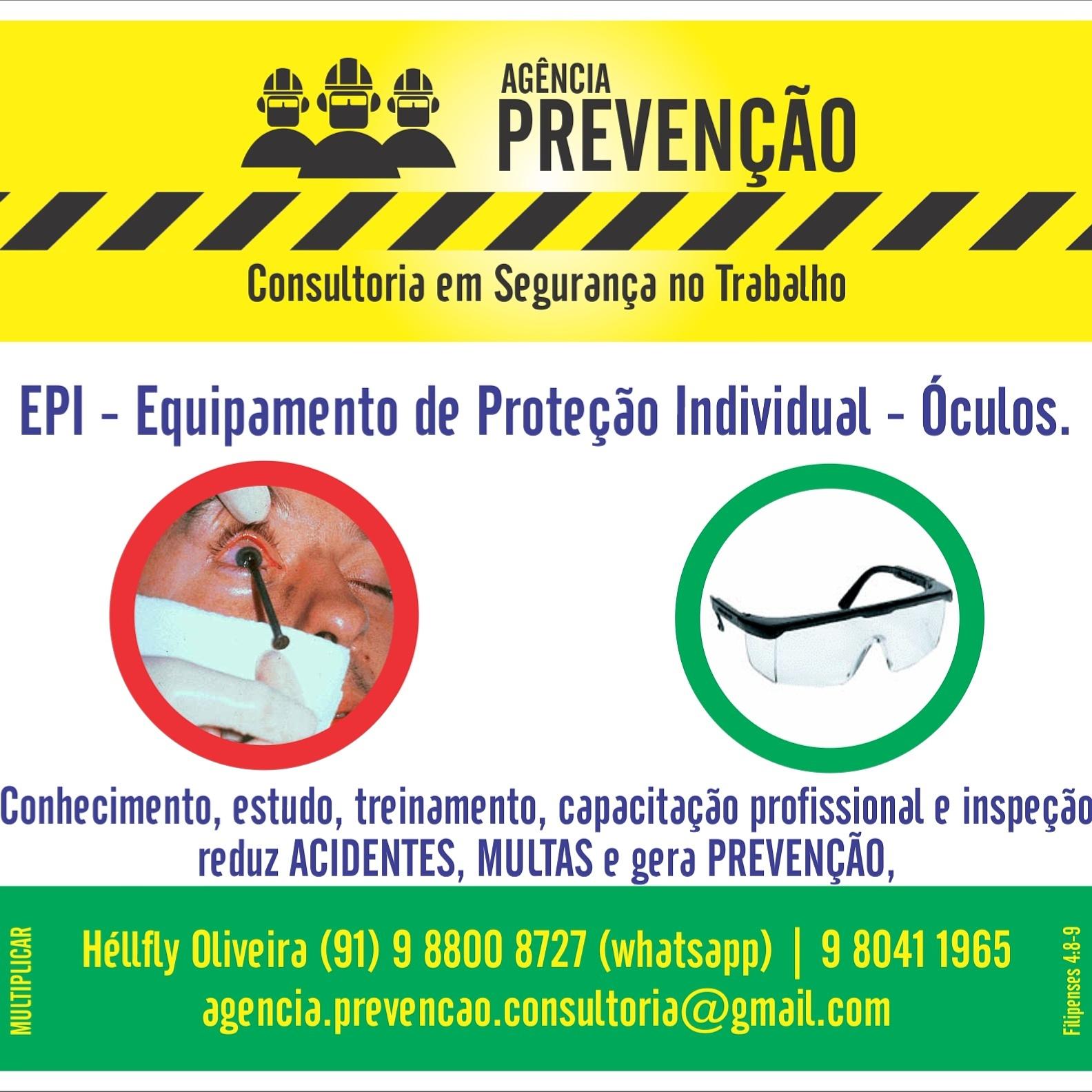 Os olhos precisam de proteção além do natural. O EPI (Óculos com C.A.) vai  lhe ajudar. 5696349063