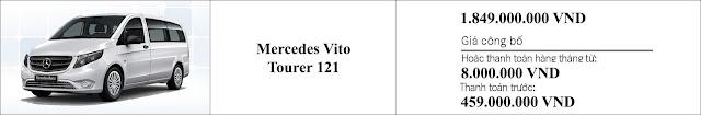 Giá xe Mercedes Vito Tourer 121 2019 tại Mercedes Trường Chinh