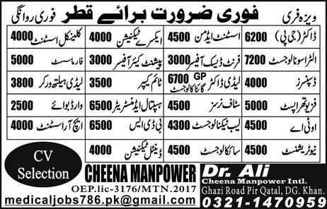 Private and misc jobs in Qatar - Blog 1- Jobs advertisements in