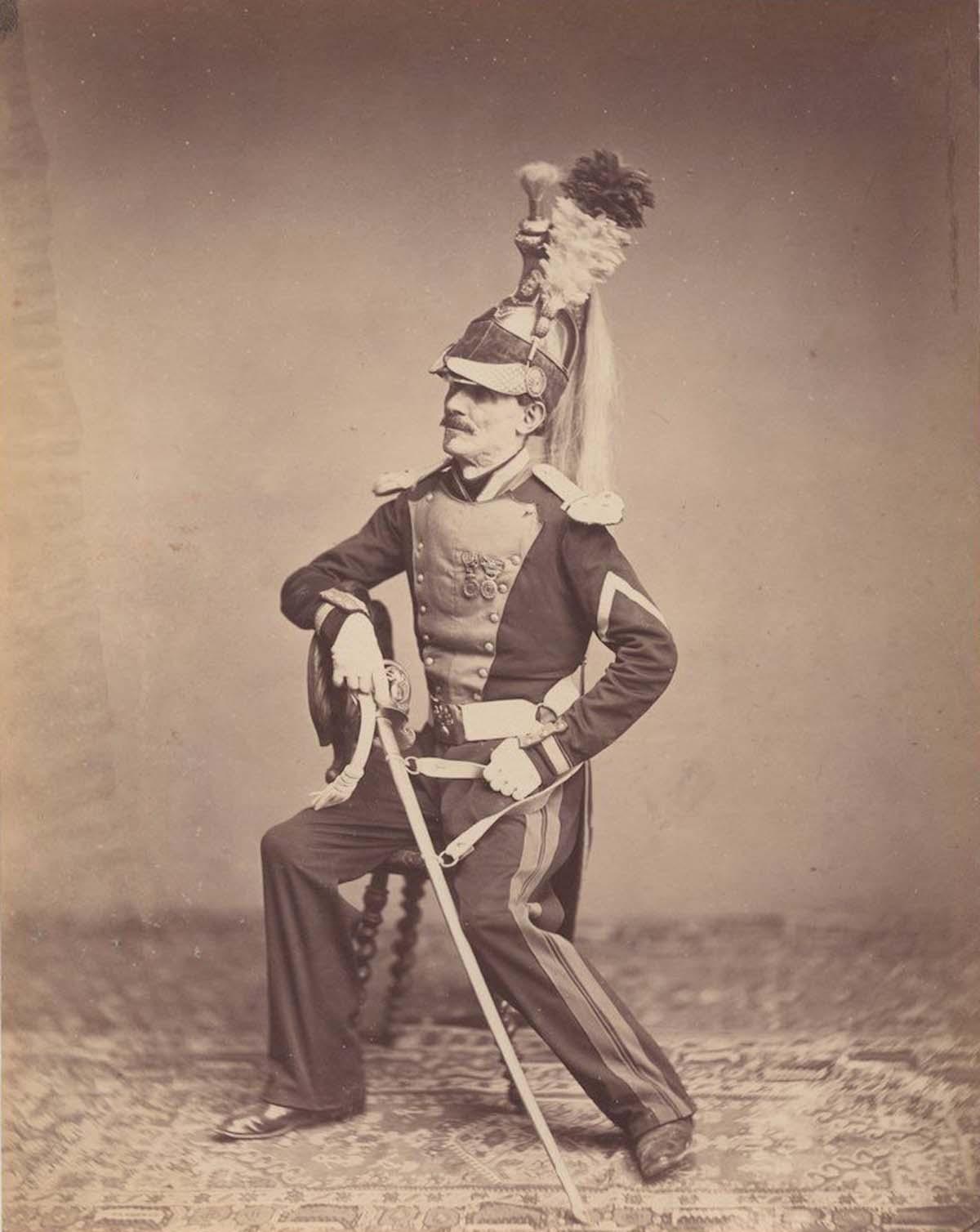 Monsieur Mauban del 8º Regimiento de Dragones de 1815.