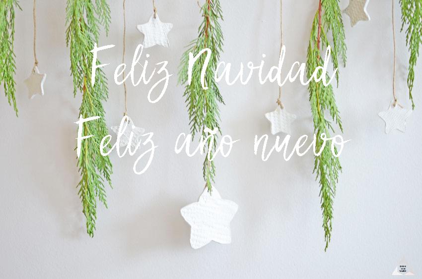 decoración de navidad con felicitación