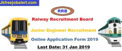 RRB JE Recruitment 2019-20 Official Notification