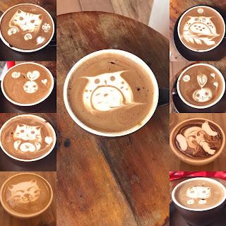 Sipping Cute Coffee Art in Hong Kong