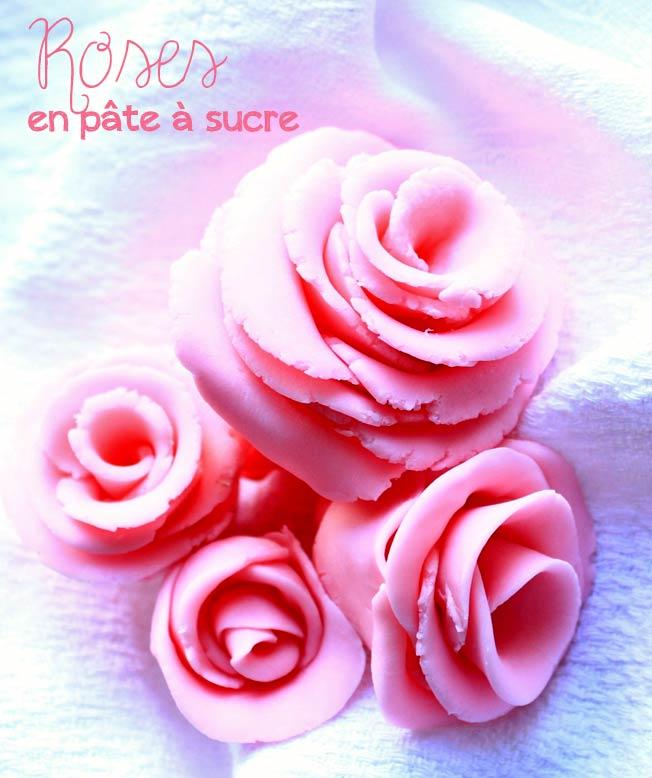 Rose En Pate A Sucre Ou Pate D Amande Sans Materiel Il Etait