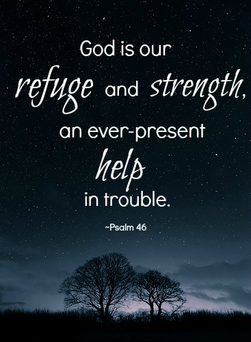 God is our refuge and our strength - Faith Filled Mommy Moments
