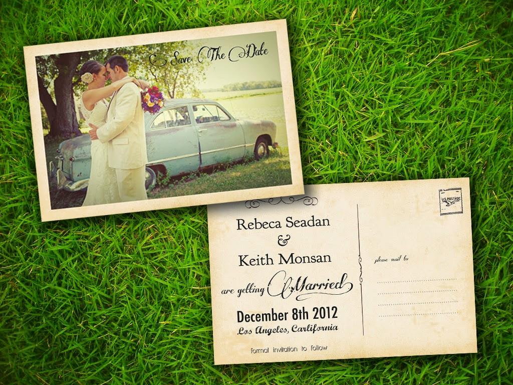 Thiệp cưới dạng Postcard lạ lẫm bắt mắt
