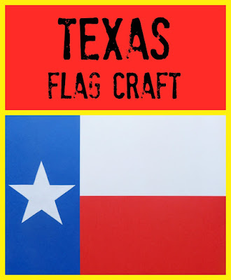 Texas Flag Craft for Texas Public Schools Week, from Paula's Preschool and Kindergarten