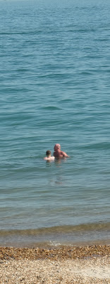 swimming in sea southsea june