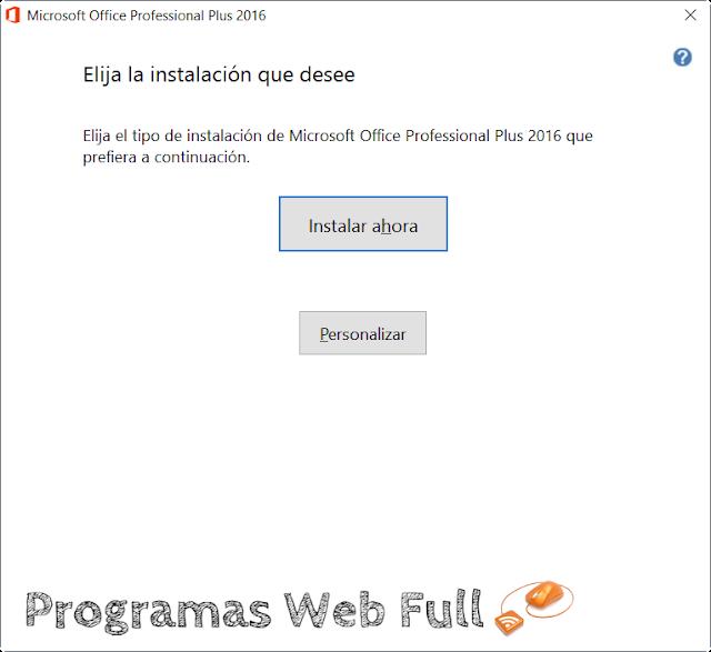 Office 2016 Todo en Uno