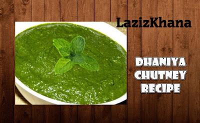 Hari Dhaniya Chutney Recipe in Roman English - Hari Dhaniya Chutney Banane ka Tarika