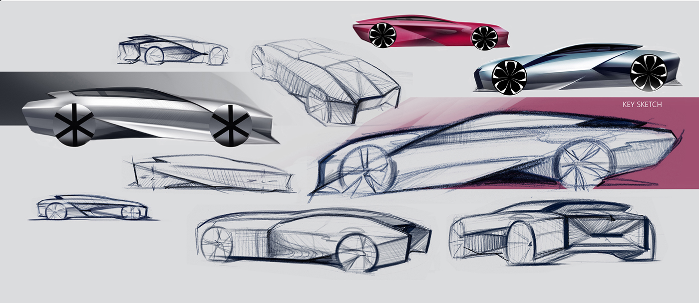 Lexus By Anna Gorbunova Motivezine Car Sketch Moscow State Technological University