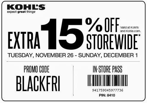 Kohl S Coupons Black Friday 2013 Save 15 Off In Store Purchases