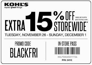 Kohl's Coupons Black Friday 2013: Save 15% Off In-Store