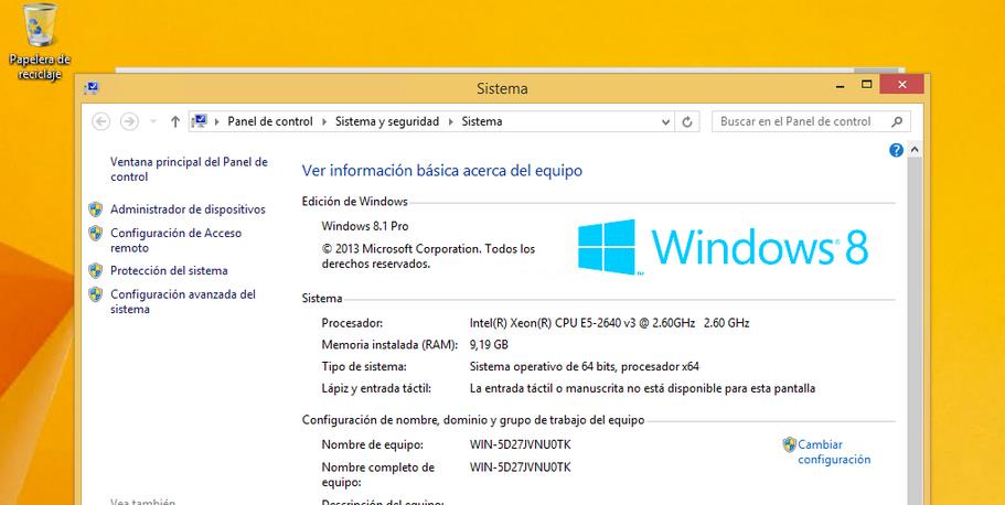 Windows 8.1 Pro full español latino